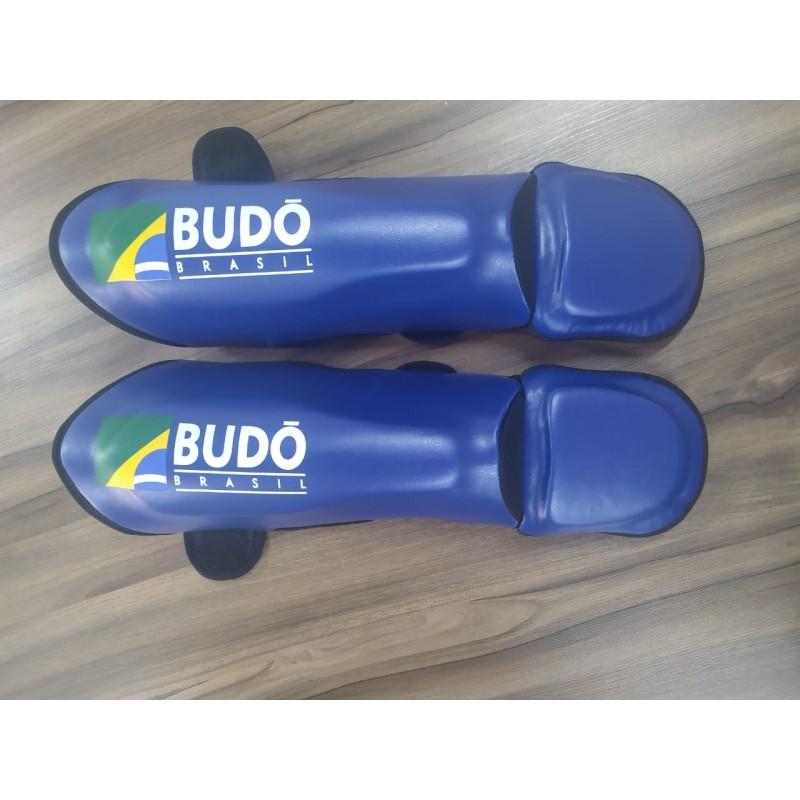 Caneleira Muay Thai Budo Brasil Azul