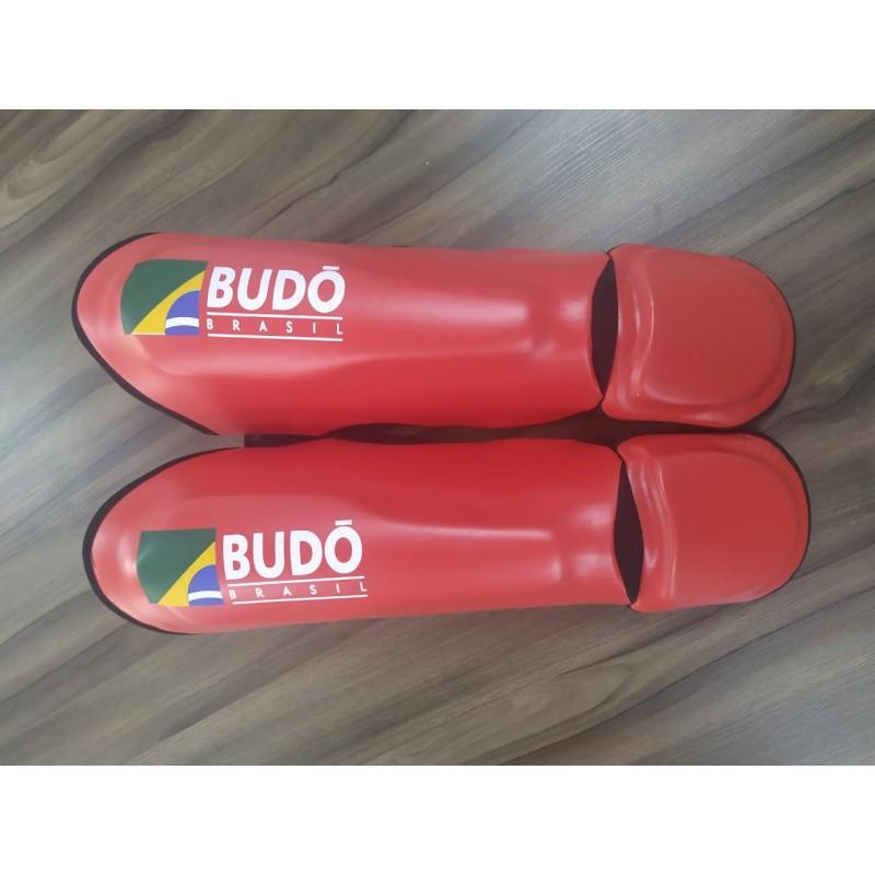 Caneleira Muay Thai Budo Brasil Vermelha
