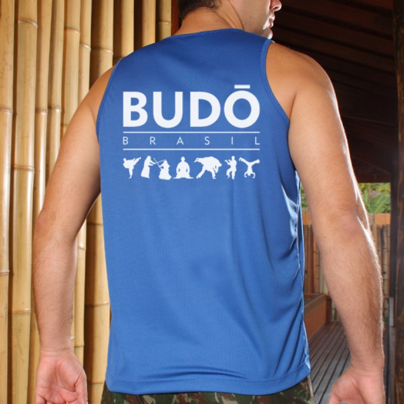 Camiseta Regata Dry Fit Azul