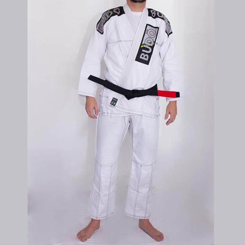 Kimono Jiu Jitsu Branco Trançado Modelo Tradicional 01