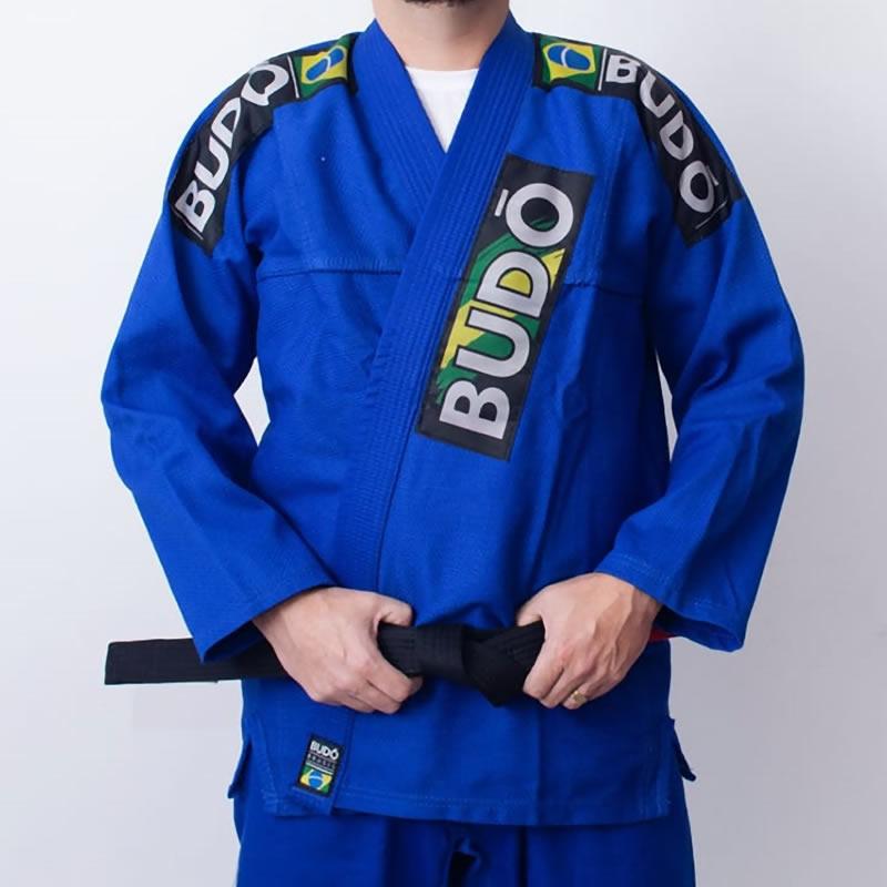Kimono Jiu Jitsu Azul Tradicional Modelo 03