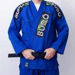 Kimono Jiu Jitsu Azul Trançado Modelo Tradicional...