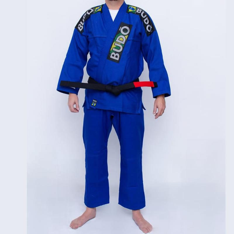 Kimono Jiu Jitsu Azul Tradicional Modelo 01