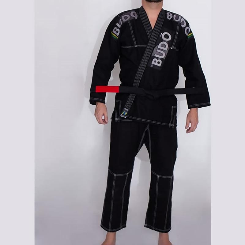 Kimono Jiu Jitsu Preto Tradicional Modelo 03