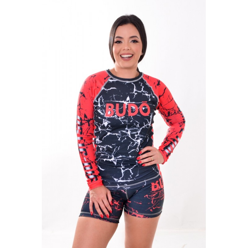 Rash Guard Unissex Sublimada Vermelha